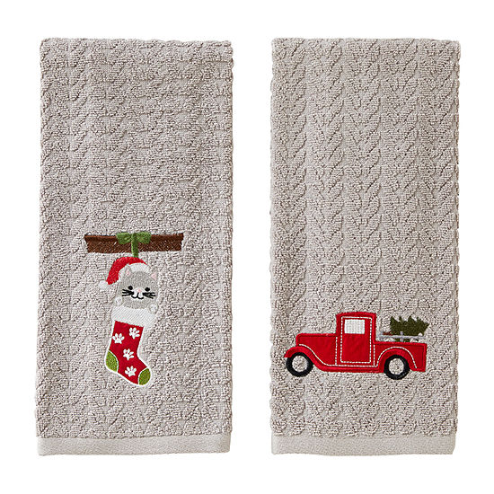 Saturday Knight Truck And Kitten 2-pc. Hand Towel