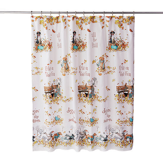 Saturday Knight Autumn Dogs Shower Curtain