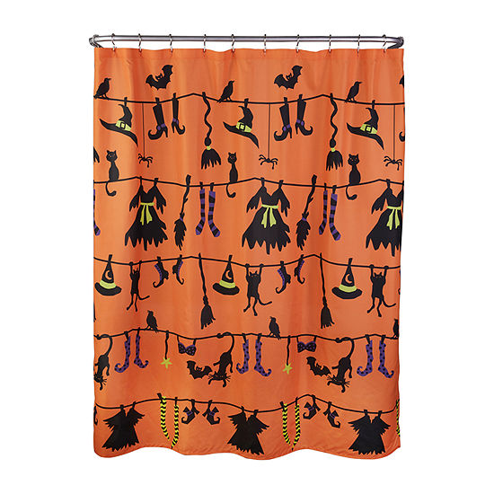 Saturday Knight Witch Clothing Shower Curtain