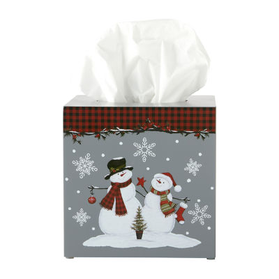 Saturday Knight Woodland Winter Tissue Box Cover