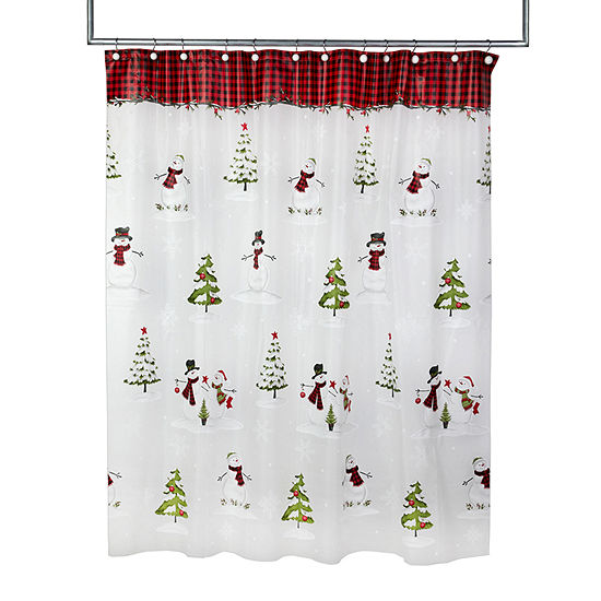 Saturday Knight Woodland Winter Shower Curtain