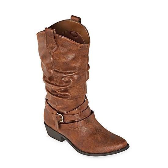 Arizona Womens Moore Cowboy Boots Block Heel