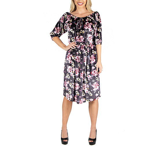 24/7 Comfort Apparel Knee Length Dress