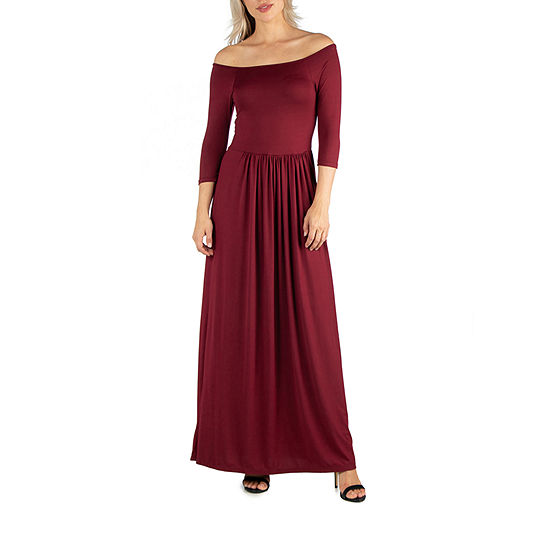 24/7 Comfort Apparel Pleated Waist Maxi