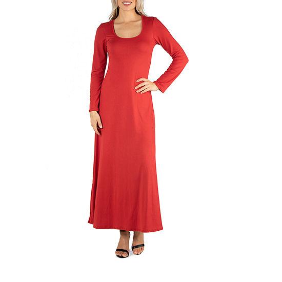 24/7 Comfort Apparel Long Sleeve T-Shirt Maxi