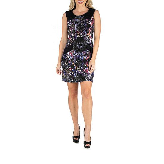 24/7 Comfort Apparel Sleeveless Shift Dress