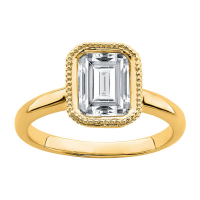 True Light Womens 2 1/4 CT. T.W. Lab Created White Moissanite 14K Gold Engagement Ring