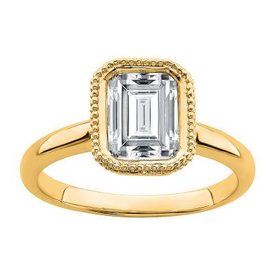 True Light Womens 3 1/4 CT. T.W. Lab Created White Moissanite 14K Gold Engagement Ring
