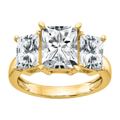 True Light Womens 2 CT. T.W. Lab Created White Moissanite 14K Gold Engagement Ring