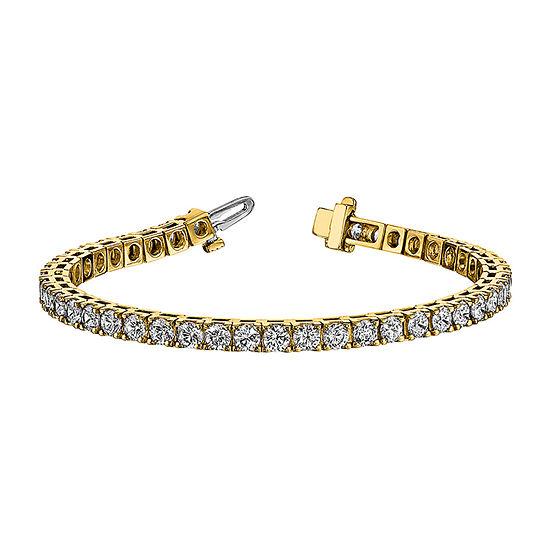 True Light 3 1/4 CT. T.W. Lab Created White Moissanite 14K Gold 7 Inch Tennis Bracelet