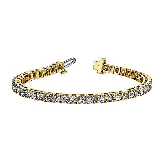 True Light 5 CT. T.W. Lab Created White Moissanite 14K Gold 7 Inch Tennis Bracelet