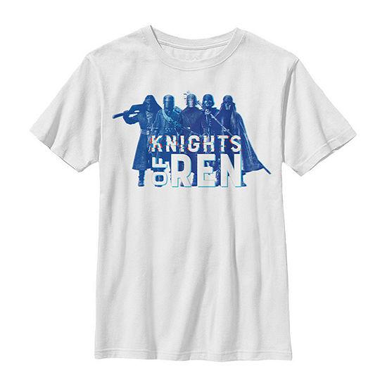 Episode 9 Knights Of Ren Boys Crew Neck Short Sleeve Star Wars Graphic T-Shirt - Big Kid