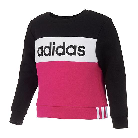 adidas - Big Kid Girls Round Neck Long Sleeve Sweatshirt