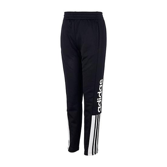 adidas Boys Performance Fleece Mid Rise Pull-On Pants - Big Kid