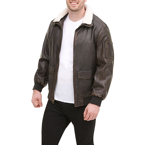 Dockers Faux Leather Midweight Bomber Jacket Big and Tall
