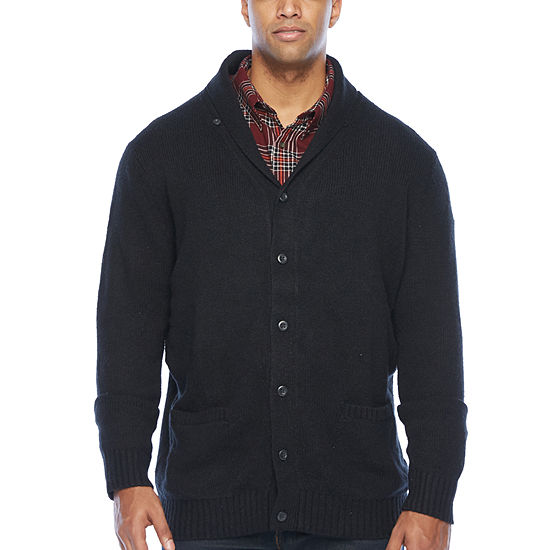 The Foundry Big & Tall Supply Co. Mens V Neck Long Sleeve Cardigan - Big and Tall