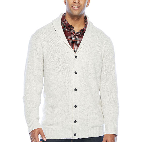 The Foundry Big & Tall Supply Co. - Big and Tall Mens V Neck Long Sleeve Cardigan