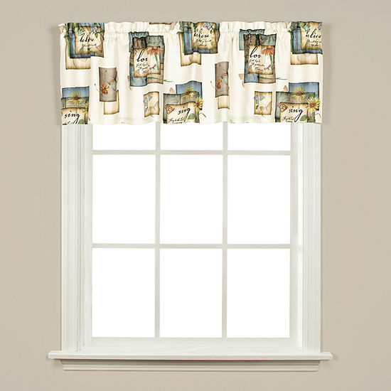 Natures Garden Rod-Pocket Tailored Valance