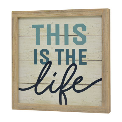 Elements 15in Wood This Is Life Message Board
