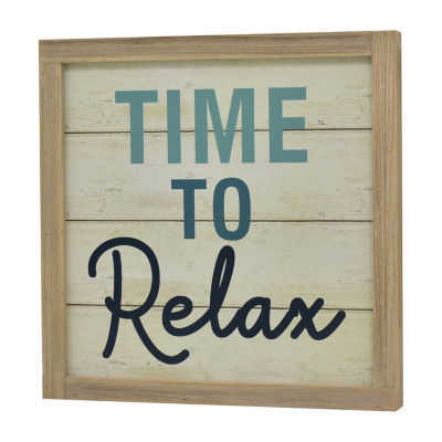 Elements 15in Wood Time To Relax Message Board