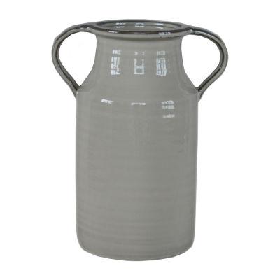 Elements 11in Cream Ceramic Pitcher Vase