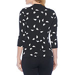 Bold Elements Womens Mock Neck Long Sleeve Blouse
