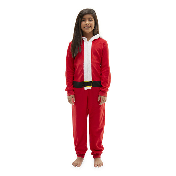 North Pole Trading Co. Santa Little & Big Unisex Knit Long Sleeve One Piece Pajama