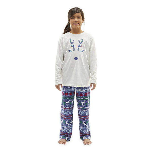 North Pole Trading Co. Fairisle Little & Big Unisex 2-pc. Christmas Pajama Set