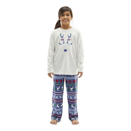 North Pole Trading Co. Fairisle Little & Big Unisex 2-pc. Christmas Pajama Set