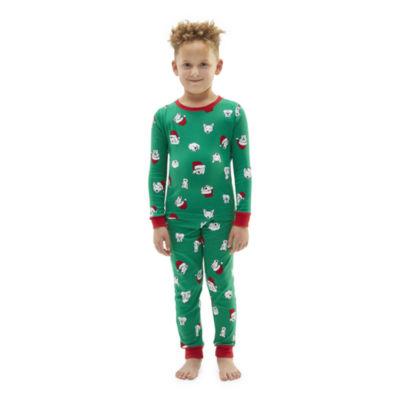 North Pole Trading Co. Happy Holidays Little & Big Unisex Christmas Pajama Set  2-pc.