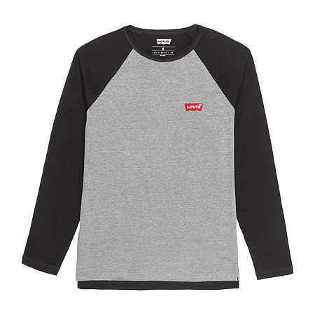 Levi's Mens Crew Neck Long Sleeve T-Shirt, Xx-large , Gray