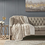 Madison Park Marselle Faux Fur Throw