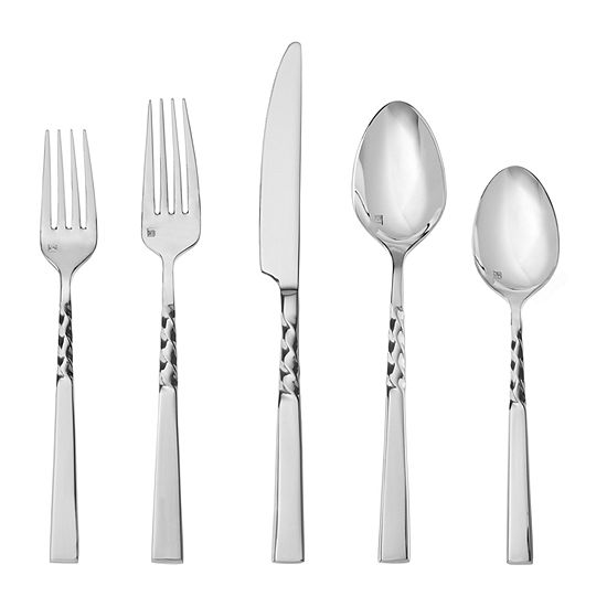Crafthouse By Fortessa Wrought 20-pc. 18/10 Stainless Steel Flatware Set