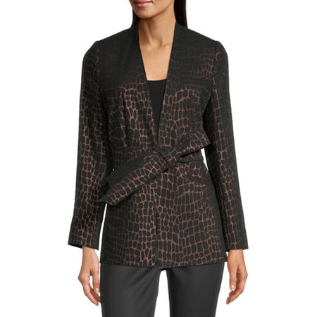 Worthington Womens Regular Fit Blazer, Medium , Black