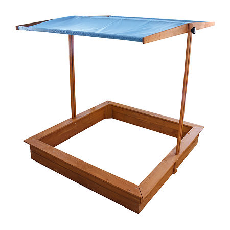 Sandbox With Canopy, One Size , Brown