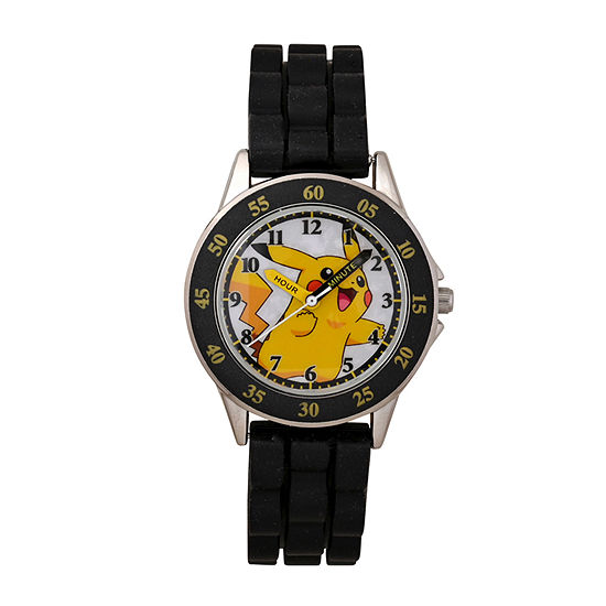 Pokemon Boys Black Strap Watch Pok9048jc20