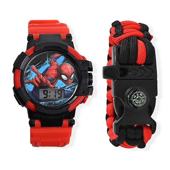 Spiderman Boys Red 2-pc. Watch Boxed Set-Spd40060jc
