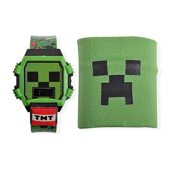 Minecraft Boys Green 2-pc. Watch Boxed Set-Min40021jc