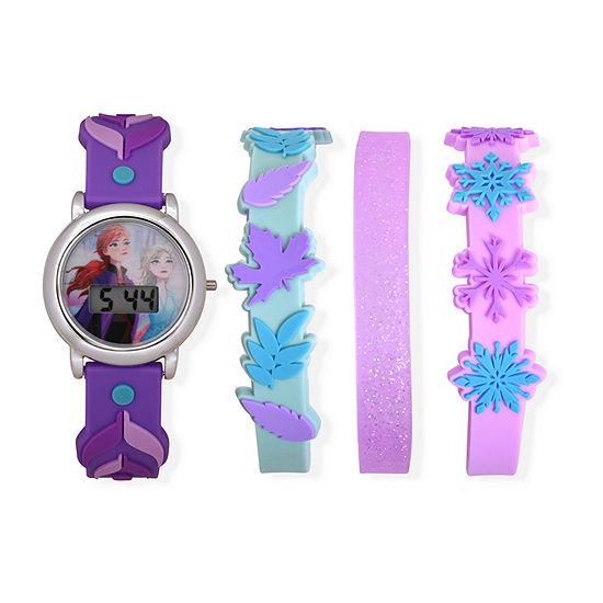 Disney Frozen Girls Digital Purple 4-pc. Watch Boxed Set-Fzn45040jc