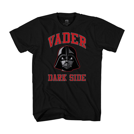 Vader Dark Side Mens Crew Neck Short Sleeve Star Wars Graphic T-Shirt