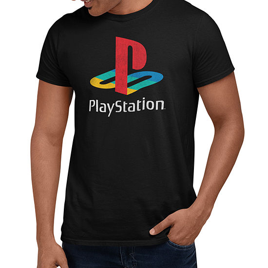 Play Station Mens Crew Neck Short Sleeve Graphic T-Shirt