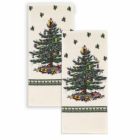 Spode Christmas Tree 2-pc. Kitchen Towel