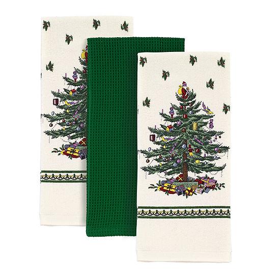 Spode Christmas Tree 3-pc. Kitchen Towel