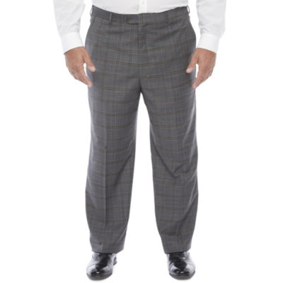 Stafford Mens Plaid Stretch Regular Fit Suit Pants - Big and Tall