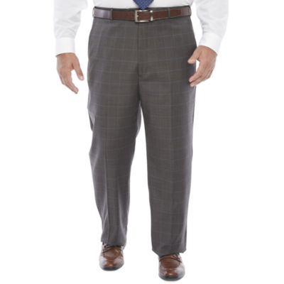 Stafford Super Suit Mens Windowpane Stretch Classic Fit Suit Pants - Big and Tall