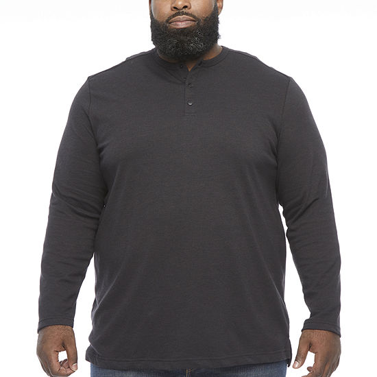 The Foundry Big & Tall Supply Co. Mens Long Sleeve Henley Shirt