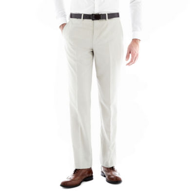 J.F. J Ferrar® Regular Fit Bone Flat-Front Suit Pants