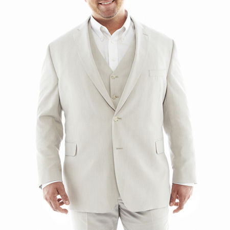 J.F. J Ferrar End on End Suit Jacket—Big&Tall, 58 Short, White