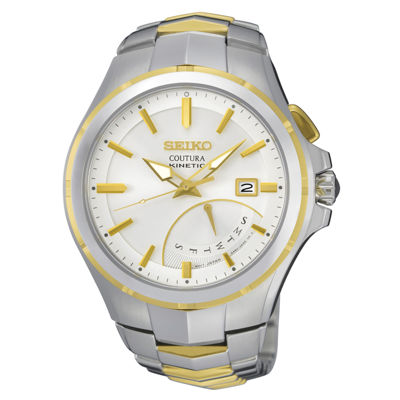 Seiko® Mens Coutura Kinetic Retrograde Two-Tone Bracelet Watch SRN064