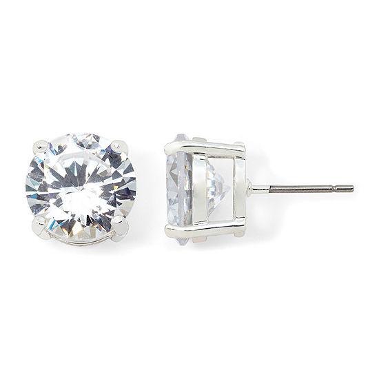 Monet® Crystal Silver-Tone Stud Earrings
